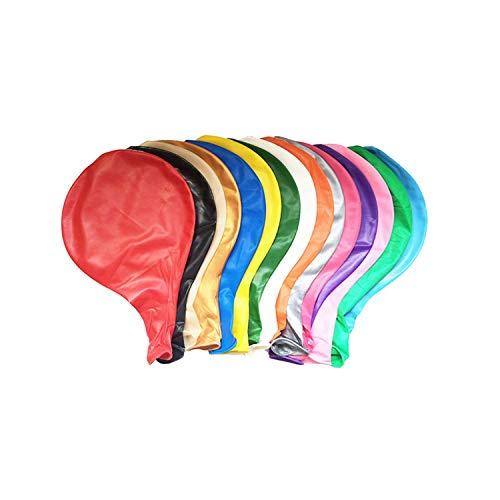 Wohlstand Luftballons 36-Zoll 9 Stück,Extra große Ballons,Riese Luftballon Latex riesige Ballon rund Gross Dekoration für Hochzeit Geburtstag Taufe Babyparty Kinder Party Festival, 9 Farben (Luftballons Latex Große)