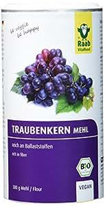 Raab Vitalfood Bio Traubenkernmehl 300g, reich an Ballaststoffen, vegan, OPC, 1-er Pack (1 x 300 g)