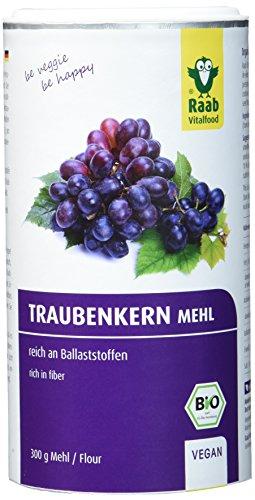 Raab Vitalfood Bio-Traubenkernmehl 300g, 1-er Pack (1 x 300 g) - Bio