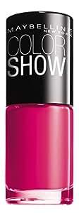 Maybelline New York Make-Up Nailpolish Color Show Nagellack Bubblicious / Ultra glänzender Farblack in knalligem Pink, 1 x 7 ml
