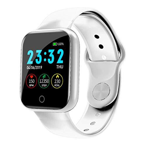 intangpo I5 Fitness Tracker Smart-Armband Wasserdicht Wettervorhersage Herzfrequenzüberwachung Aktivität FitnessBand Männer Frauen beobachten,Weiß