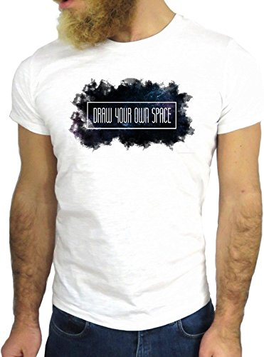 T SHIRT JODE Z1971 DRAW YOUR OWN SPACE LIFESTYLE SMOKY COOL FASHION NICE GGG24 BIANCA - WHITE