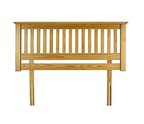 Tough Pine Wood Headboard - Slatted Design - Can Be