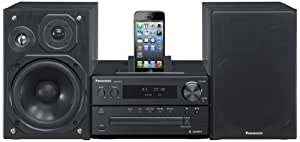 Panasonic SC-PMX7DBEBK 120W Micro System with Integrated Dock for iPod and iPhone - Black