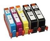 Prestige Cartridge Compatibile HP 364XL Cartucce d'Inchiostro per Stampanti HP Deskjet/Officejet/Photosmart Serie, 5 Pezzi, Nero/Ciano/Magenta/Giallo