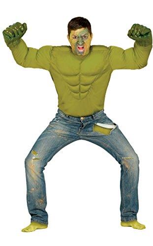 Kostüm Shirt Gepolsterte Muskel - Muskel-Shirt Kostüm unglaubliche Hulk Green Monster