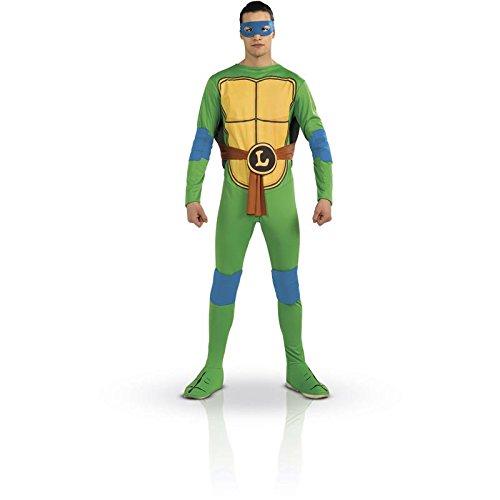 –Kostüm–Leonardo Schildkröte Ninja–TMNT–Einheitsgröße (Kostüm Schildkröte)
