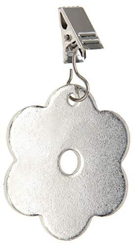 chwerer Blume Inox Clip Tischtuchhalter Tischdeckengewichte aus PVC und Metall, Silber, 7 x 5 x 0,3 cm, 54207 ()