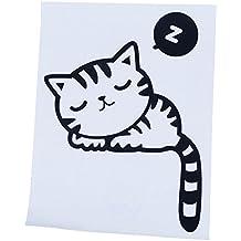 TOOGOO(R) Pegatina del vinilo calcomania de pared divertido interruptor de luz mascota siesta