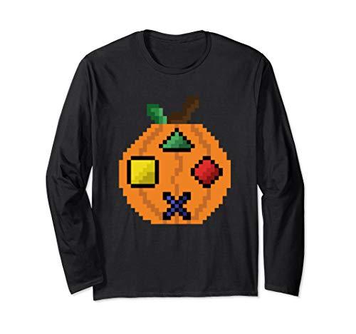 Pumpkin Game Controller Halloween Jack O Lantern Joystick Langarmshirt (Halloween-party World Adventure 2019)