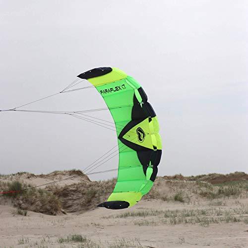 Wolkenstürmer Paraflex Sport 1.7 Kite, grün - Lenkmatte mit reißfesten Leinen