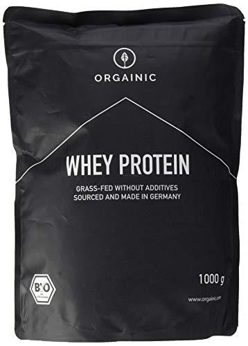 ORGAINIC Bio Strawberry Whey Protein Pulver - Bio Zertifiziert - Eiweißpulver aus Deutschland - Grasfütterung - 1000g