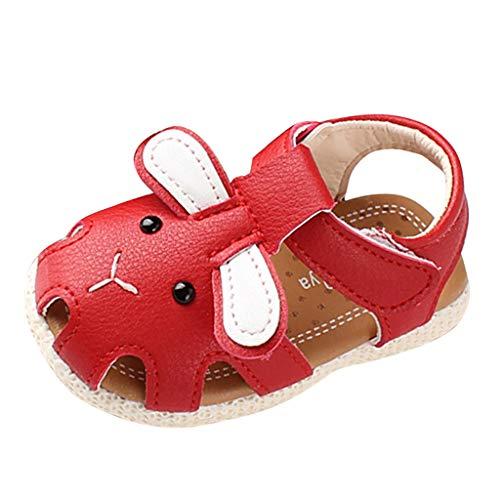 Tohole Babyschuhe Kind MäDchen Sandalen Beleuchteten Weichen Sohlen Prinzessin Schuhe Baby QualitäT Schnee KöNigin Kind Schuhe weichen Boden Rutschfeste Babyschuhe(Rot 2,17 EU)