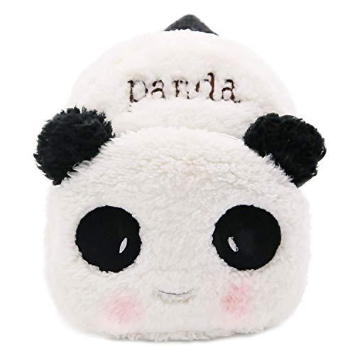 Czemo Zaino Asilo Bimba Animali Cartoon Sacchetto di Scuola Zaino Simpatico Cartone Animato Animale Asilo Bambino Zainetto Zaino Villus Borsa Scuola (Panda)