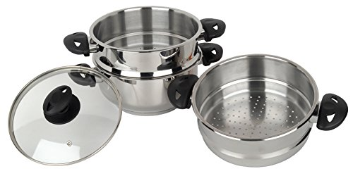 Stainless Steel Collection Pendeford - Set de 3 vaporeras para olla (20 cm, acero inoxidable)
