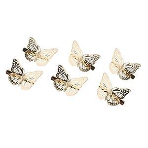 B Baosity 6er Schmetterling Haarspangen Braut Haarschmuck Hochzeit Fotografie Kostüm