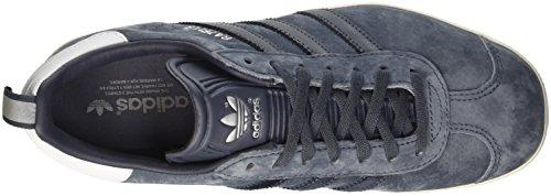adidas Gazelle, Pompes à plateforme plate femme Argent (Utility Blue/Utility Blue/Silver Metallic)