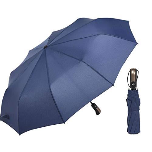 Cansenty - Paraguas compacto plegable con 10 varillas reforzadas y cierre automático, impermeable,...