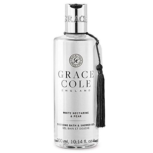 Gel douche et bain 300 ml par Grace Cole - Nectarine blanche et poire