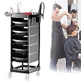 Salon trolley Carrello Parrucchiere a 7 Piani con Porta-phon Parrucchieri Deposito Bagagli Carrello per Parrucchiere Spa Beauty Barbershop