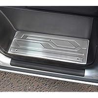4 protectores cromados para umbral de puerta para adaptarse a Transit Custom (2012 +)
