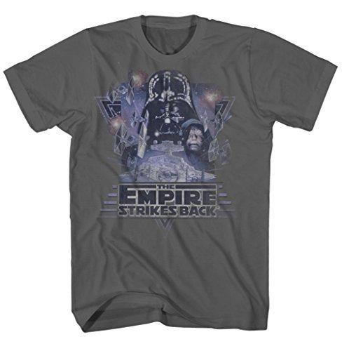 Preisvergleich Produktbild Star Wars Purple Empire Strikes Back Erwachsene Charcoal T-Shirt (Large)