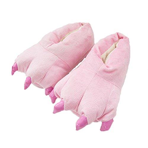 Pantoufles En Peluche Vogstyle Warm Pantoufles / Kigurumi Pyjamas Et Chemises De Nuit Style-3 Rose