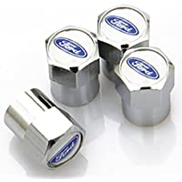 Ford tapones antipolvo para válvula de neumáticos ka fiesta Mondeo Focus llantas de aleación de coche Logo insignia emblema