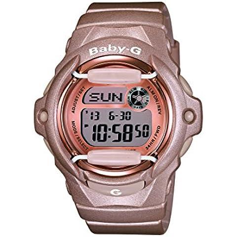 Casio Baby-G BG-169G-4ER - Reloj digital de cuarzo para mujer, correa de resina color plateado (alarma, cronómetro, luz)