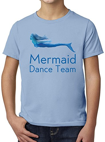 Mermaid Dance Team Funny Slogan Ultimate Youth Fashion T-Shirt by Benito Clothing - 100% Organic, Hypoallergenic Cotton- Casual Wear- Unisex Design - Soft Material 5-6 years (Dance Team-t-shirts)