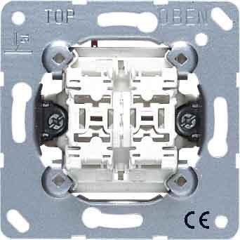 Jung 539VU Jalousie-Wippschalter Taster, 1-polig (24 Aluminium-jalousie)