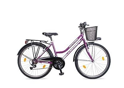 24 ZOLL Kinder Fahrrad Kinderfahrrad Cityfahrrad City Mädchenfahrrad Bike Rad 6 Gang FUNTASIA LILA