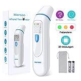 Fieberthermometer Stirnthermometer Ohrthermometer Infrarot Professional Thermometer für Babys Kinder Erwachsenen, 1 Sekunde Messzeit mit Fieberwarnung Speicherfunktion