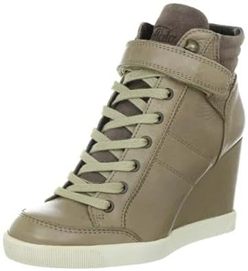 Buffalo London ES 30083 GARDA SUEDE 136928, Damen Fashion Sneakers, Beige (TAUPE 60), EU 36