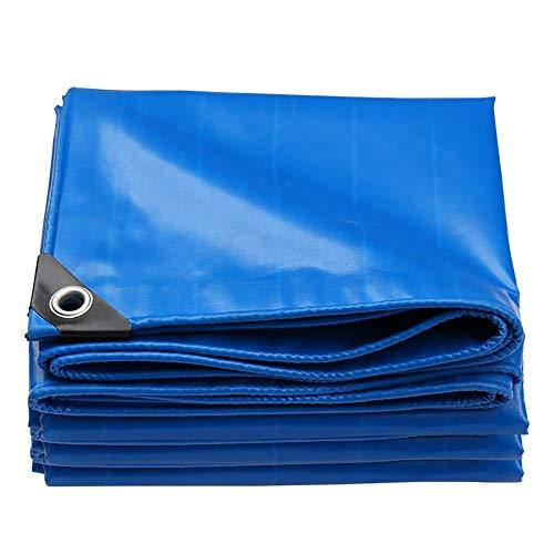 Lff-telone tarpaulin impermeabile addensare telo abbronzante per esterno telone da campeggio tenda- blu 550g/m² (dimensioni : 2 * 2m)