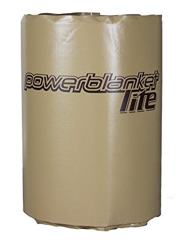 powerblanket pbl200F-uk Lite isoliert Full Deckung Trommel Heizung, Barrel Heizung Decke, feste Thermostat Set zu pflegen 63°C, 200l, anthrazit