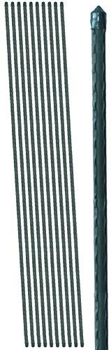 BigDean 10 Pflanzstäbe grün 1500x11mm Pflanzstab Rankstab Noppen Rankstäbe Pflanzenstütze