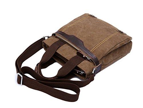 LAIDAYE Männer Schulter Tasche Messenger Business Freizeit Mehrzweck- Reiserucksack Brown