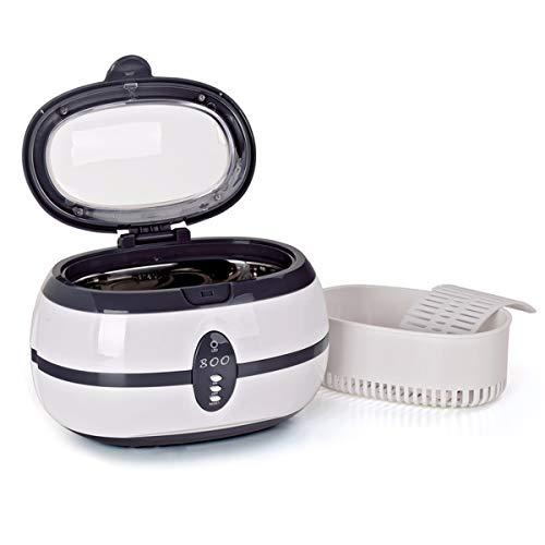 B2key® 600 ml, piccola macchina per la pulizia ad ultrasuoni per uso domestico, occhiali per protesi dentarie, dispositivo di pulizia per apparecchi dentali, casa, ufficio, negozio di ottica, gioielli