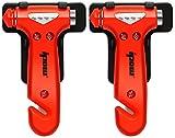Ipow 2-Stück auto Hammer Fenster Hammer Gurtschneider Sicherheit Hammer fürs