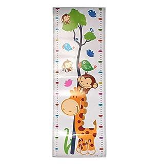 1Stück Höhe Diagramm Wachstum Maßnahme Aufkleber Wandtattoo für Kinder abnehmbaren PVC Cartoon Art Wandbild Kinder