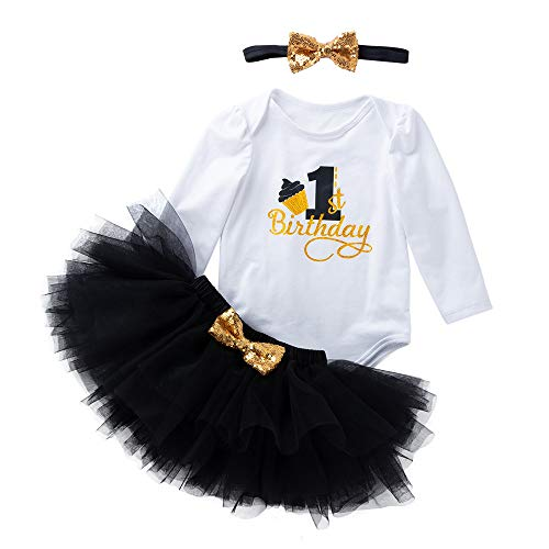 bestshope Kleinkind Neugeborenes Baby 1. Geburtstag Strampler + Tutu Kleid Outfits Set