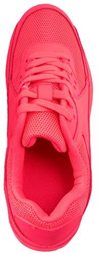Sport Femmes et Hommes Chaussures rangers Chaussures de course profil semelle Baskets rouge clair