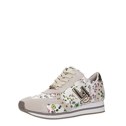 Liu Jo Shoes S17151 P0276 Sneakers Damen Spaltleder Beige