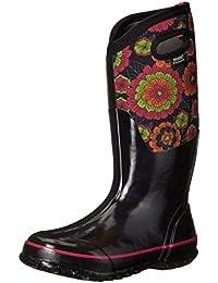 Ladies Bogs Classic Paisley Tall Black Insulated Warm Wellington Boot 72031-Uk 9 (eu 43)