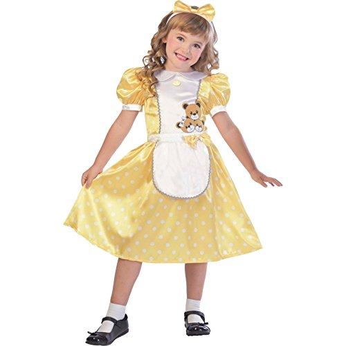 Goldlöckchen Märchen Kostüm Kinder Mädchen Amscan (Kostüm Goldlöckchen Kinder)