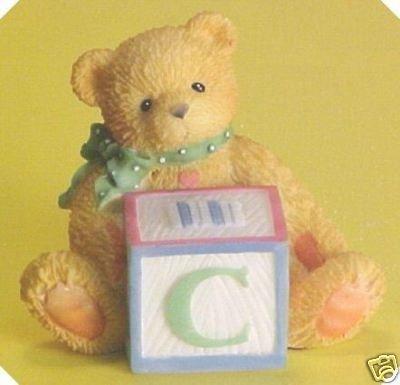 Cherished Teddies Bear With C Block 158488C by Enesco -