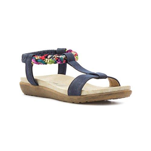 Heavenly Feet , Sandales pour femme Bleu