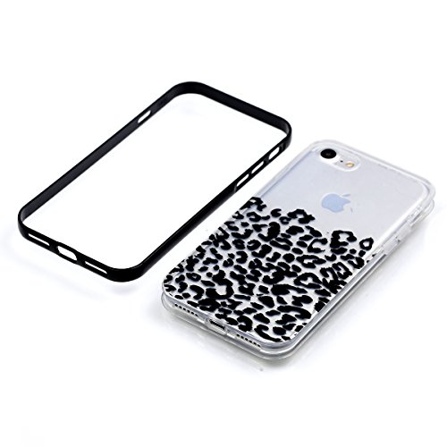 Apple iPhone 8 4.7 Hülle, Voguecase Schutzhülle / Case / Cover / Hülle / 2 in 1 TPU Gel Skin (lächelndes Gesicht 02) + Gratis Universal Eingabestift Schwarze Flecken