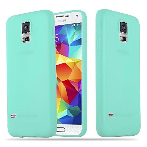 Cadorabo Custodia per Samsung Galaxy S5 / S5 Neo in Candy Blu - Morbida Cover Protettiva Sottile di Silicone TPU con Bordo Protezione - Ultra Slim Case Antiurto Gel Back Bumper Guscio
